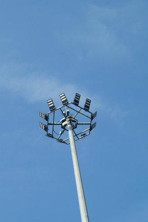 outdoor lighting: Telegraph poles and street lamp