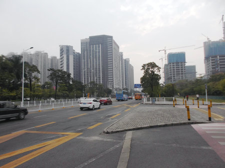 urban road: Urban road traffic, in shenzhen, China