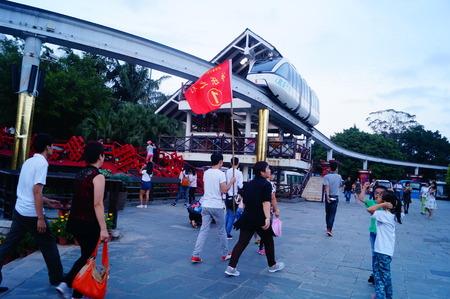 folk culture: Tour trip visiting the shenzhen folk culture village