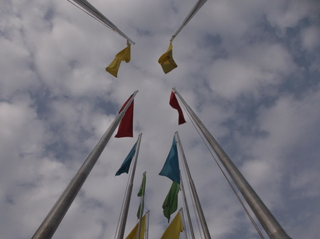 flagpoles: Flags
