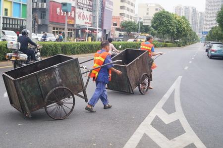 sanitation: Chinese sanitation workers