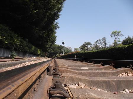 train track: Train track Stock Photo