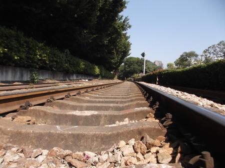 train track: Train track Editorial