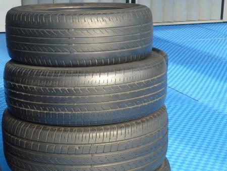Stacked up tires Reklamní fotografie