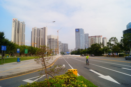 urban road: Urban road traffic landscape, Shenzhen, China