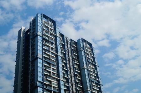 Edificios residenciales, en Shenzhen, China Foto de archivo - 66236888
