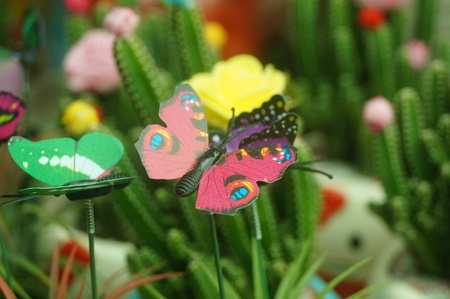 Artificial insects as a decoration
