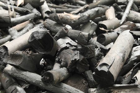 Black charcoal horizontal picture