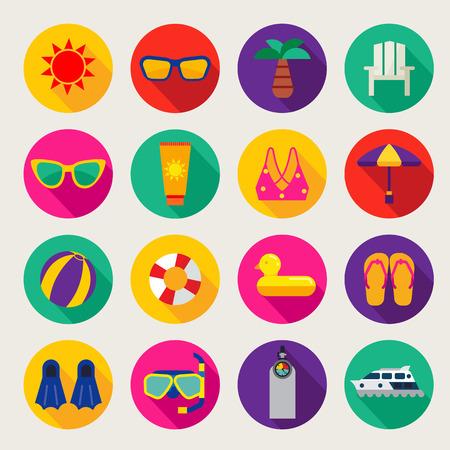 verano: conjunto de iconos de verano