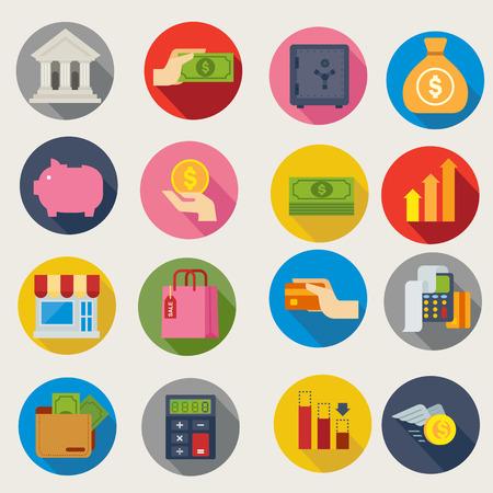 Finanziellen Symbole Standard-Bild - 41673939