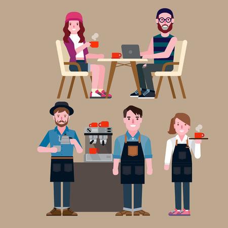mensen in een coffeeshop