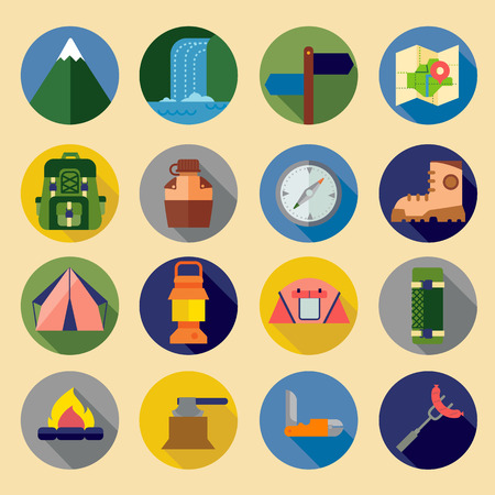 MOCHILA: Iconos que acampan fijados