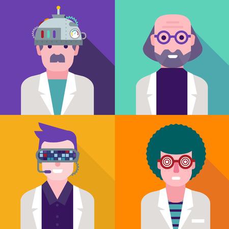 mad scientist: Scientist Illustration