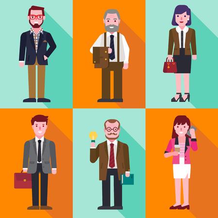 üzlet: üzletemberek Illusztráció