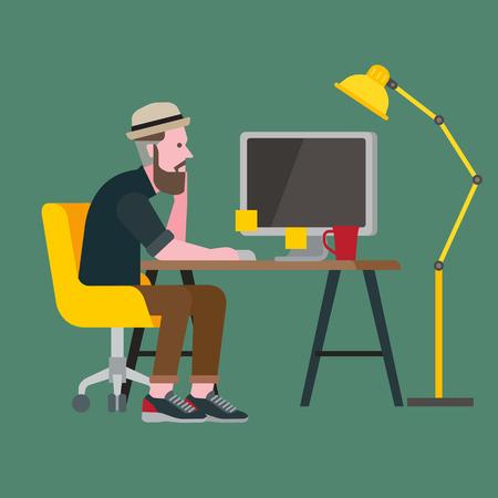 men working: hipster