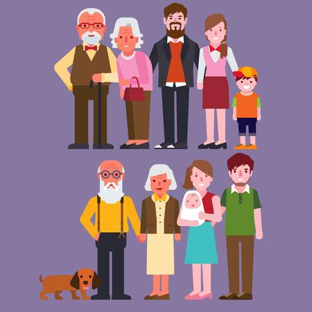 abuelos: Familia Vectores