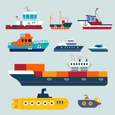 pescando: barcos y buques