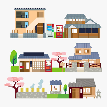 Japanese house Stock Vector - 44154074