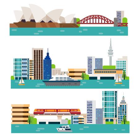 australië landschap Stock Illustratie