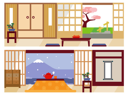 japanese garden: Japanese living room
