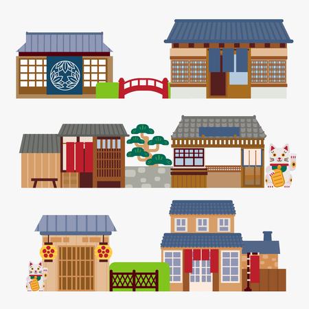Japans restaurant Stock Illustratie