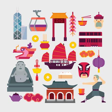 香港  イラスト・ベクター素材