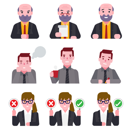 teamwork cartoon: business people