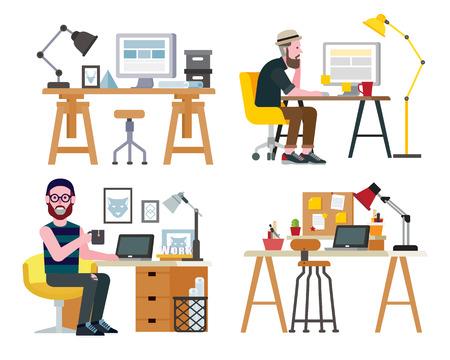 workspace: Workspace Illustration
