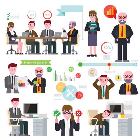 business: Business meeting Illustration