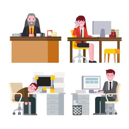 personas trabajando en oficina: Empresarios que trabajan en la Oficina