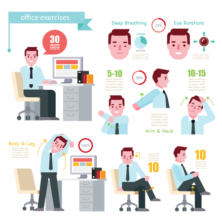 Office Exercises Ilustrace