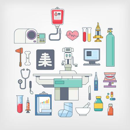 operate: hospital equipment