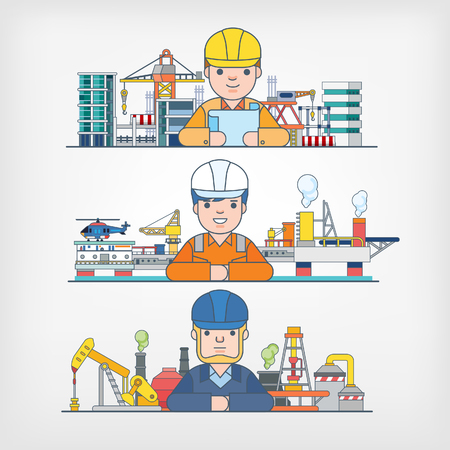 refinery engineer: Engineer Illustration