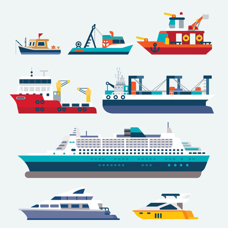 Ships and boats Ilustrace