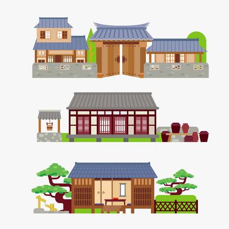 japanese garden: Japanese house