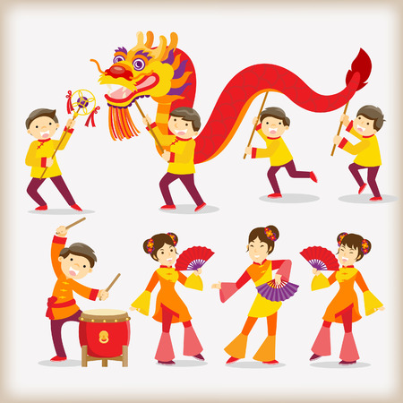 중국 새 해 축제  드래곤 댄스