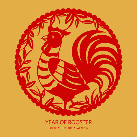 Chinese new year greeting cardyear of rooster
