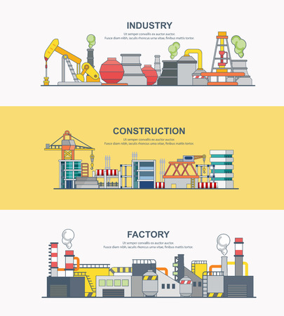 banner of industry Ilustrace