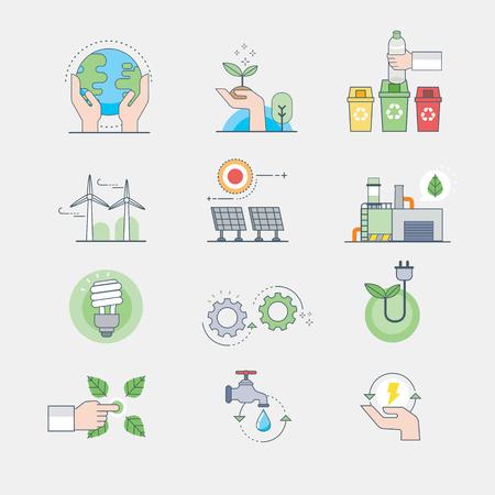 icons of ecology Ilustracja