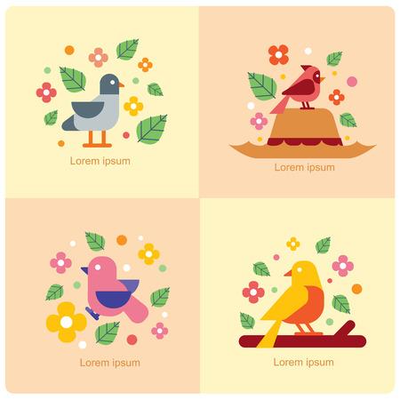 vector of birds