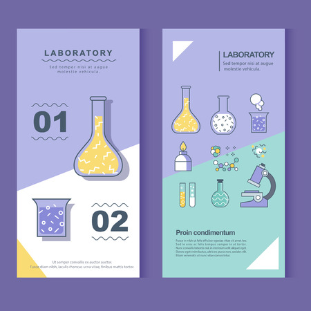 banner of laboratory and experiment Ilustrace