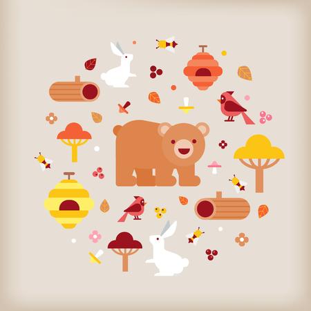 vector van herfst vectorillustratie Stock Illustratie