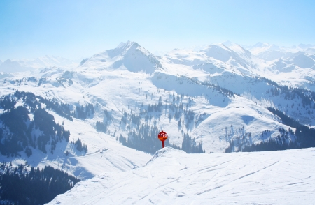 Ski slope in the Alps Stock Photo - 15085219