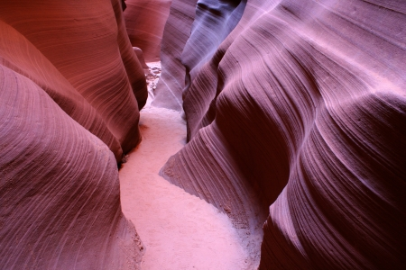 The famous Antelope Canyon