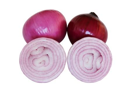 Pink fresh onions