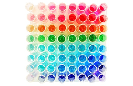 Multi color test tubes
