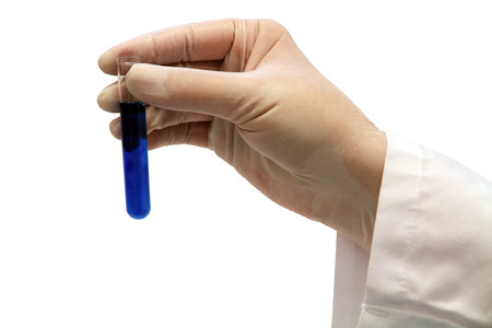 A hand of a scientist Stock Photo