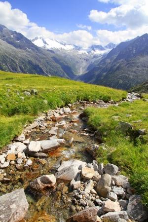 A beautiful view of Olperer above Schlegeisspeicher Lake Zillertal Tirol Austria Stock Photo