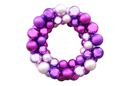Colorful Christmas wreath Stock Photo