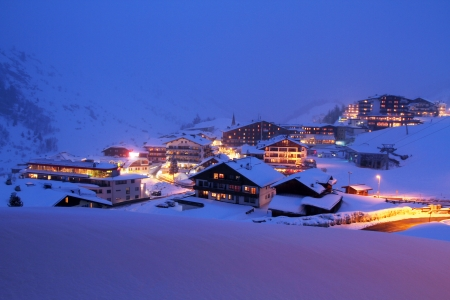 Winter holiday in the Alps